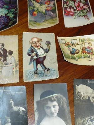 Старшего поколения, почтовые открытки 40-х