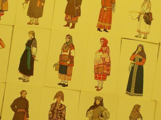 Набор открыток народный костюм