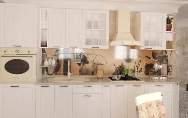 Кухня Венеция-3000 Белое дерево/Венге-белый - модульная эконом-кухня  Венеция-3000 Белое дерево/Венге-белый | 378x600