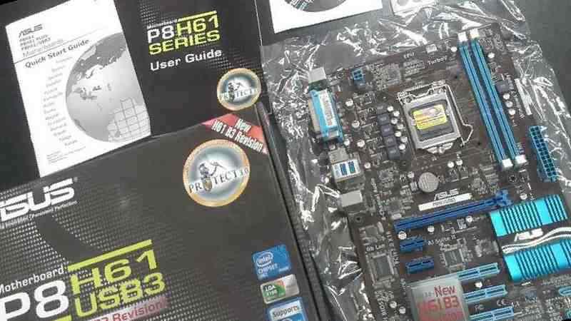 Материнская плата asus P8H61/USB3 LGA 1155, ATX, б/у, купить