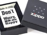 Зажигалка zippo Dont worry Brushed Chrome 200