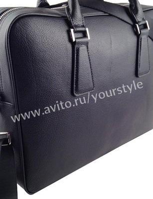 58d9d459b5dd Фото объявления: Мужская кожаная сумка портфель Prada арт. 8093 в  Старотитаровской. Цена:
